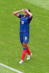09.07.2011, FIFA Frauen-WM-Stadion Leverkusen, Leverkusen, GER, FIFA Women Worldcup 2011, Viertelfinale, England (ENG) vs. Frankreicht (FRA), im Bild:  Marie-Laure Delie  (Frankreich) entaeuscht / entäuscht / traurig .. // during the FIFA Women´s Worldcup 2011, Quaterfinal, England vs France on 2011/07/09, FIFA Frauen-WM-Stadion Leverkusen, Leverkusen, Germany.   EXPA Pictures © 2011, PhotoCredit: EXPA/ nph/  Mueller *** Local Caption ***       ****** out of GER / CRO  / BEL ******
