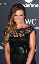 GEORGIE THOMPSON. arrives at the Laureus Sport Awards held at the Queen Elizabeth II Centre, London, Monday February 6, 2012. Photo By i-Images