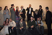CAST INC.  CHAIM TOPOL; WHO PLAYED IN THE ORIGINAL PRODUCTION AND HIS COUNTERPART BRYN TERFEL;, Opening of Grange Park Opera, Fiddler on the Roof, Grange Park Opera, Bishop's Sutton, <br /> Alresford, 4 June 2015