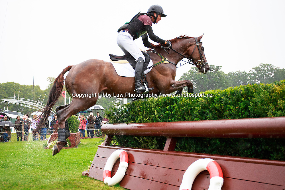 NZL-Dan Jocelyn rides Dassett Cool Touch during the CCI4* Cross Country at the 2016 Land Rover Burghley Horse Trials (Interim-18TH). Saturday 3 September. Copyright Photo: Libby Law Photography