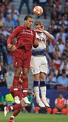 MADRID, SPAIN - SATURDAY, JUNE 1, 2019: Liverpool's Virgil van Dijk during the UEFA Champions League Final match between Tottenham Hotspur FC and Liverpool FC at the Estadio Metropolitano. (Pic by David Rawcliffe/Propaganda)