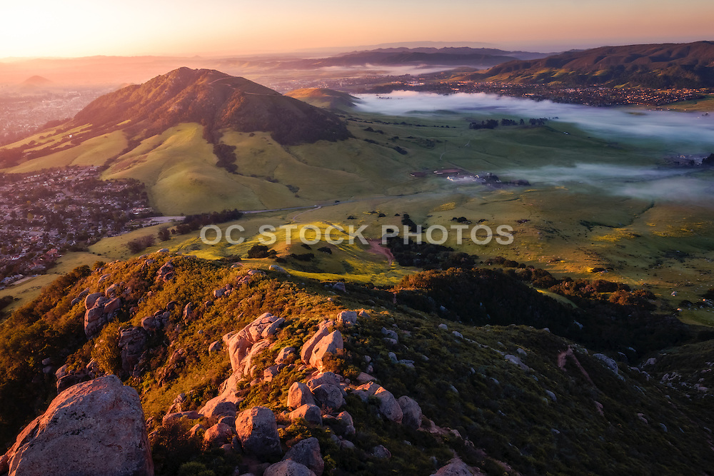 Scenic View of San Luis Obispo from Mountain Top