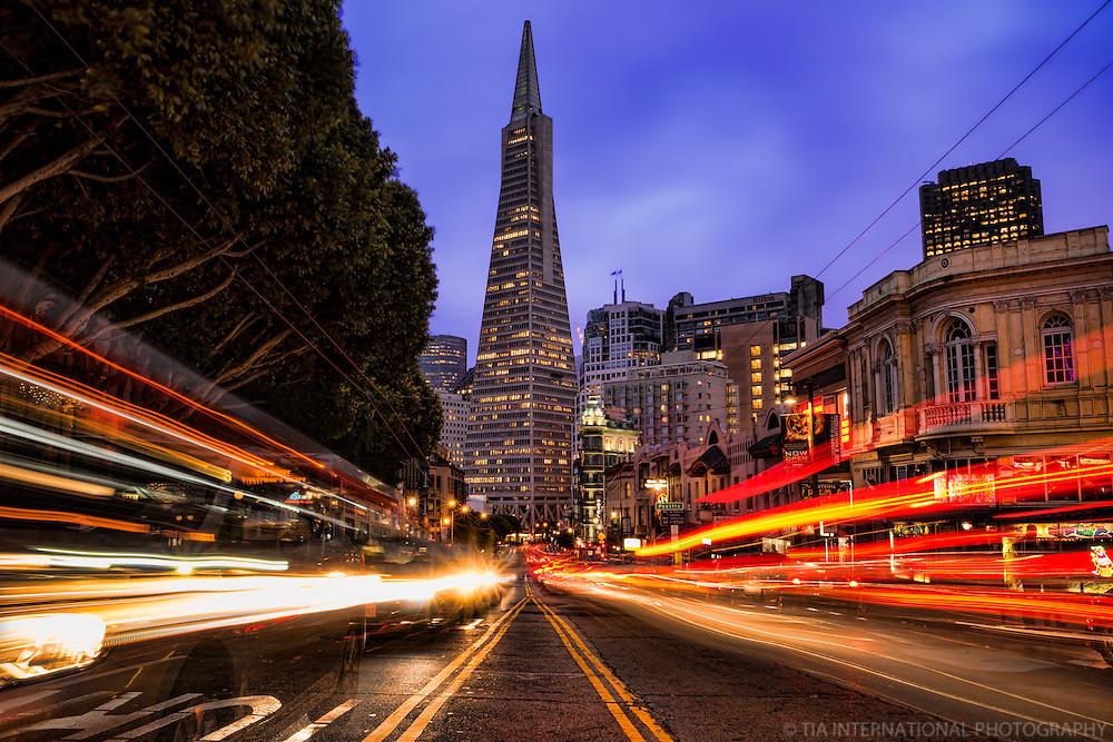 Transamerica Pyramid @ Twilight, San Francisco