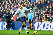 Tottenham Hotspur Midfielder Erik Lamela (11) in action during the Premier League match between Tottenham Hotspur and Newcastle United at Wembley Stadium, London, England on 2 February 2019.