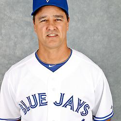 March 2, 2012; Dunedin, FL, USA; Toronto Blue Jays bench coach Don Wakamatsu (22) poses for a portrait during photo day at Florida Auto Exchange Stadium.  Mandatory Credit: Derick E. Hingle-US PRESSWIRE