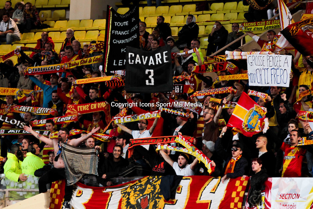 Supporters Lens - 02.12.2014 - Monaco / Lens - 16eme journee de Ligue 1 -<br /> Photo : Jean Christophe Magnenet / Icon Sport