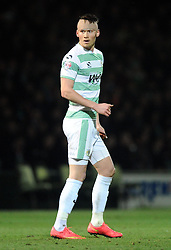 Yeovil Town's Kieffer Moore  - Photo mandatory by-line: Joe meredith/JMP - Mobile: 07966 386802 - 04/01/2015 - SPORT - football - Yeovil - Huish Park - Yeovil Town v Manchester United - FA Cup - Third Round