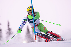 11.02.2019, Aare, SWE, FIS Weltmeisterschaften Ski Alpin, alpine Kombination, Herren, Slalom, im Bild Silbermedaillengewinner Stefan Hadalin (SLO) // Silver medalist Stefan Hadalin of Slovenia during the Slalom competition of the men's alpine combination for the FIS Ski World Championships 2019. Aare, Sweden on 2019/02/11. EXPA Pictures © 2019, PhotoCredit: EXPA/ Johann Groder