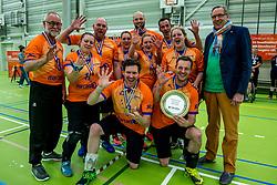 28-04-2018 NED: NK Zitvolleybal, Koog aan de Zaan<br /> BVC Holyoke wint de finale van het NK zitvolleybal met 3-1 van V.a.s. F.D.S uit Sneek. / Feest bij Holyoke