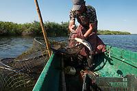 Traditional fishing with fyke net, Danube Delta fisherman, Florin Moisa, Danube Delta, Romania