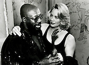 Isaac Hayes and Cybil Shepherd together at the Handy Awards in Memphis.May 1994.