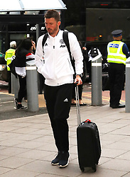 Michael Carrick of The Manchester United team are spotted on their way to catch a flight as the team fly to Turin on Tuesday afternoon to play Juventus in The Champions League on Wednesday night.