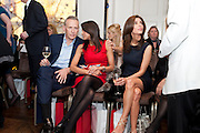 CARL MICHAELSON;  JACKIE ST. CLAIRE; MEZGHAN HUSSAINY, Stephane St. Jaymes Spring Summer 2011 fashion show.<br /> The Westbury Mayfair, Bond Street, London,DO NOT ARCHIVE-© Copyright Photograph by Dafydd Jones. 248 Clapham Rd. London SW9 0PZ. Tel 0207 820 0771. www.dafjones.com.