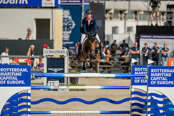 Brash Scott, GBR, Hello M Lady<br /> European Championship Jumping<br /> Rotterdam 2019<br /> © Dirk Caremans<br /> Brash Scott, GBR, Hello M Lady