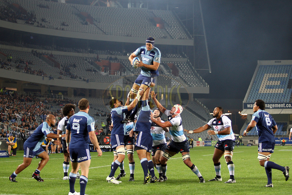 Anthony Roric wins a line out. Investec Super Rugby - Blues v Waratahs, Eden Park, Auckland, New Zealand. Saturday 16 April 2011. Photo: Clay Cross / photosport.co.nz