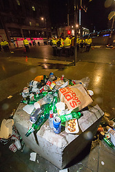 Litter at 1am after the Edinburgh's Hogmanay Street Party.