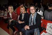 CLAIRE HAMER;  JANE SHEPHERDESS; DAVID DOWTON, Fashioning the Future. Sustainable Fashion show Winners of Adidi.com student design competition announced. London College of Fashion. Princes St. London. 27 October 2008.  *** Local Caption *** -DO NOT ARCHIVE-© Copyright Photograph by Dafydd Jones. 248 Clapham Rd. London SW9 0PZ. Tel 0207 820 0771. www.dafjones.com.