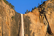 Evening light on Bridalveil Fall, Yosemite Valley, Yosemite National Park, California