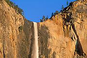 Evening light on Bridalveil Fall, Yosemite Valley, Yosemite National Park, California