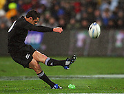 Dan Carter slots the first penalty for the All Blacks.<br /> Philips Tri Nations, All Blacks vs South Africa at Westpac Stadium, Wellington, New Zealand, Saturday 5 July 2008. Photo: Dave Lintott/PHOTOSPORT