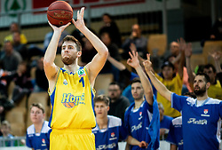 Austin James Burgett of Hopsi Polzela during basketball match between KK Hopsi Polzela and KK Helios Suns in semifinal of Spar Cup 2018/19, on February 16, 2019 in Arena Bonifika, Koper / Capodistria, Slovenia. Photo by Vid Ponikvar / Sportida