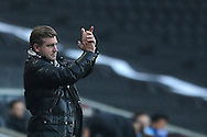 MK Dons Manager Carl Robinson during the Sky Bet League 1 match between Milton Keynes Dons and Colchester United at stadium:mk, Milton Keynes<br /> Picture by Richard Blaxall/Focus Images Ltd +44 7853 364624<br /> 29/11/2014