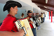 Accordion street band in Holguin, Cuba.