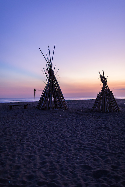 Bamboo Hut at Kayu Putih beach in Canggu.