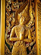 22 MARCH 2018 - BANGKOK, THAILAND: A door at Wat Lat Phrao in Bangkok.       PHOTO BY JACK KURTZ