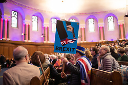 © Licensed to London News Pictures. 11/01/2019. London, UK. Anti-Brexit campaigner Steve Bray arrives at a convention for second EU referendum, organised by 'Another Vote is Possible', a pro-EU organisation. MPs are currently debating British Prime Minister Theresa May's EU withdrawal deal, with a vote on the deal due to take place on 15th January. Photo credit : Tom Nicholson/LNP