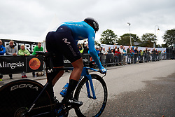 Movistar Women's Team take to the course at Postnord UCI WWT Vårgårda WestSweden TTT, a 36 km team time trial in Vårgårda, Sweden on August 17, 2019. Photo by Sean Robinson/velofocus.com