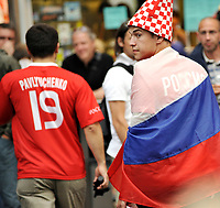 GEPA-2606087314 - WIEN,AUSTRIA,26.JUN.08 - FUSSBALL - UEFA Europameisterschaft, EURO 2008, Host City Fan Zone, Fanmeile, Fan Meile, Public Viewing. Bild zeigt Russland-Fan am Stephansplatz. <br />