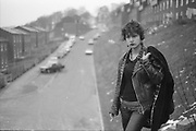 Kelly Smoking, Micklefield, West Yorkshire, UK, 1980s.