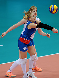 01-10-2014 ITA: World Championship Volleyball Servie - Nederland, Verona<br /> Nederland verliest met 3-0 van Servie en is kansloos voor plaatsing final 6 / Suzana Cebic, Brankica Mihajlovic