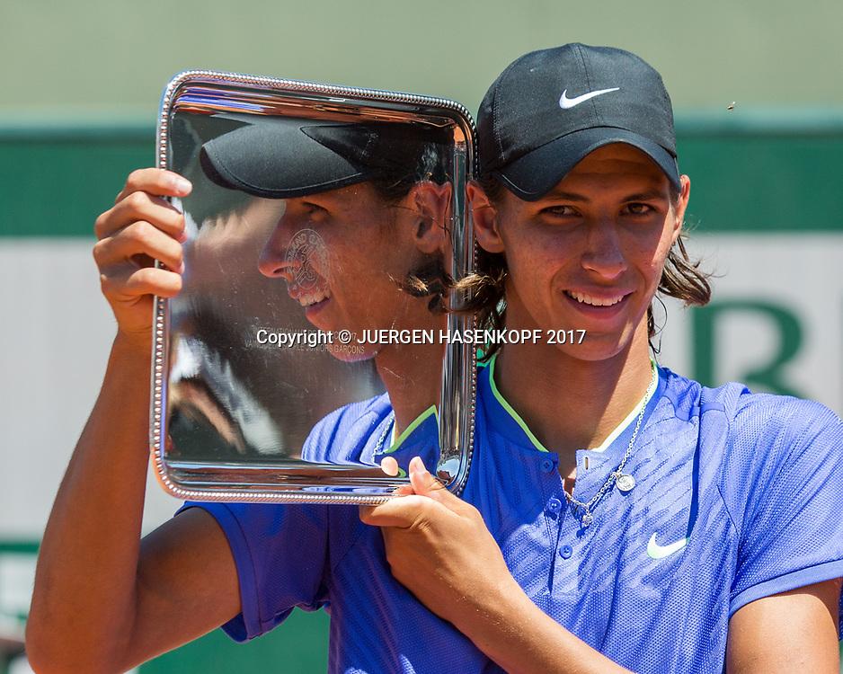 ALEXEI POPYRIN (AUS), Boys Singles Final<br /> <br /> Tennis - French Open 2017 - Grand Slam / ATP / WTA / ITF -  Roland Garros - Paris -  - France  - 10 June 2017.