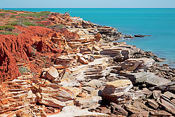 Vibrant colours near the rocks at Gantheume Point in Broome.