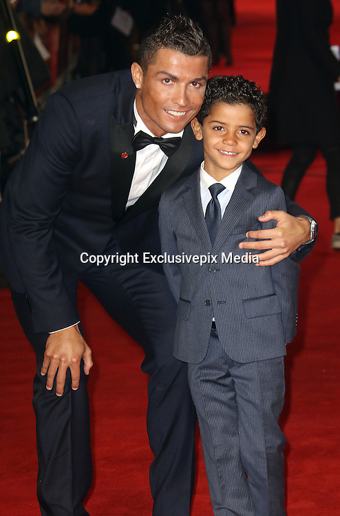 November 9, 2015 -Cristiano Ronaldo and Cristiano Ronaldo Jr attending The World Premiere of 'Ronaldo' at Vue West End, Leicester Square in London, UK.<br /> ©Exclusivepix Media