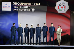 February 23, 2019 - Abu Dhabi - Foto LaPresse - Fabio Ferrari.23 Febbraio 2019 Abu Dhabi (Emirati Arabi Uniti).Sport Ciclismo.UAE Tour 2019 - Presentazione squadre.Nella foto: Groupama FDJ..Photo LaPresse - Fabio Ferrari.February 23, 2019 Abu Dhabi (United Arab Emirates) .Sport Cycling.UAE Tour 2019 - Team presentation.In the pic: Groupama FDJ (Credit Image: © Fabio Ferrari/Lapresse via ZUMA Press)