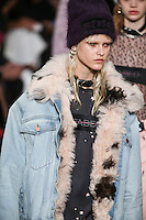Eva Minaeva walks the runway wearing Alexander Wang Fall 2016 during New York Fashion Week on February 13, 2016