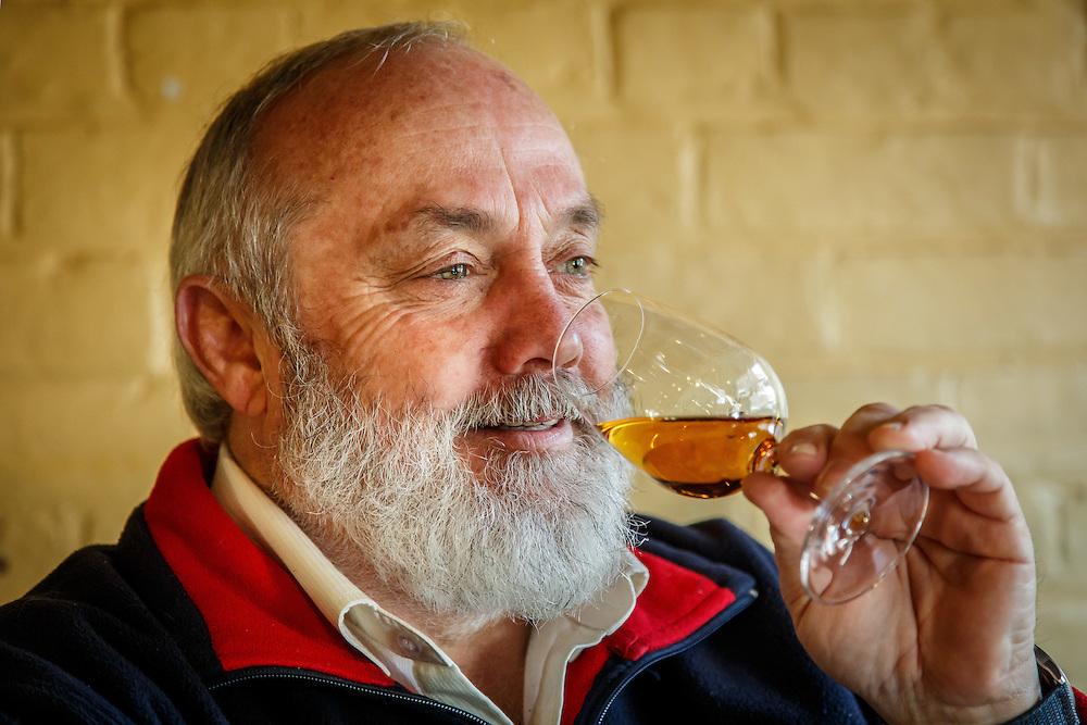 Lark Distillery founder Bill Lark drinks a pour of Lark Classic Cask Single Malt Whisky at The Lark Cellar Door in Hobart, Tasmania, August 25, 2015. Gary He/DRAMBOX MEDIA LIBRARY