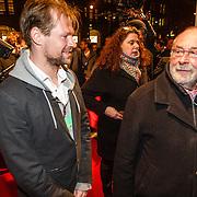 NLD/Amsterdam/20160311 - Inloop Boekenbal 2016, Hans Dorrestein en zoon Jespse