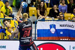 Groselj Matic of RK Celje Pivovarna Lasko during handball match between RK Celje Pivovarna Lasko (SLO) and SG Flensburg Handewitt (GER) in 3rd Round of EHF Men's Champions League 2018/19, on September 30, 2018 in Arena Zlatorog, Celje, Slovenia. Photo by Grega Valancic / Sportida