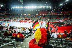 German fan during handball match between National teams of Germany and Montenegro on Day 2 in Preliminary Round of Men's EHF EURO 2018, on January 13, 2018 in Arena Zagreb, Zagreb, Croatia. Photo by Ziga Zupan / Sportida