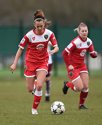 Bristol Academy's Gabbie Simmons-Bird in action during the pre-season friendly between Bristol Academy Women and Aston Villa Ladies at Stoke Gifford Stadium on 1 March 2015 in Bristol, England - Photo mandatory by-line: Paul Knight/JMP - Mobile: 07966 386802 - 01/03/2015 - SPORT - Football - Bristol - Stoke Gifford Stadium - Bristol Academy Women v Aston Villa Ladies - Pre-season friendly