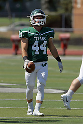 09 September 2017:  Chase Bandolik during an NCAA division 3 football game between the Nebraska Wesleyan PRAIRIE WOLVES and the Illinois Wesleyan Titans in Tucci Stadium on Wilder Field, Bloomington IL