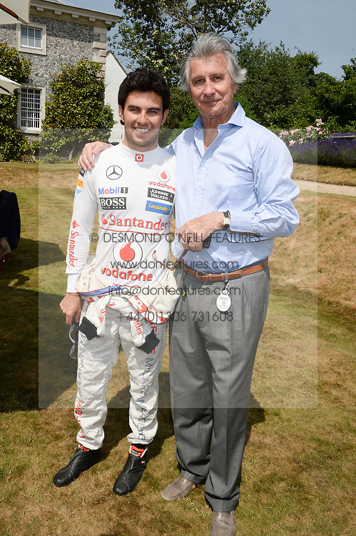 Left to right, F1 driver SERGIO PEREZ and ARNAUD BAMBERGER at the Cartier 'Style et Luxe' part of the Goodwood Festival of Speed, Goodwood House, West Sussex on 14th July 2013.