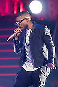 Usher performing at the iHeartRadio Music Festival in Las Vegas, Nevada on Sepembter 20, 2014.