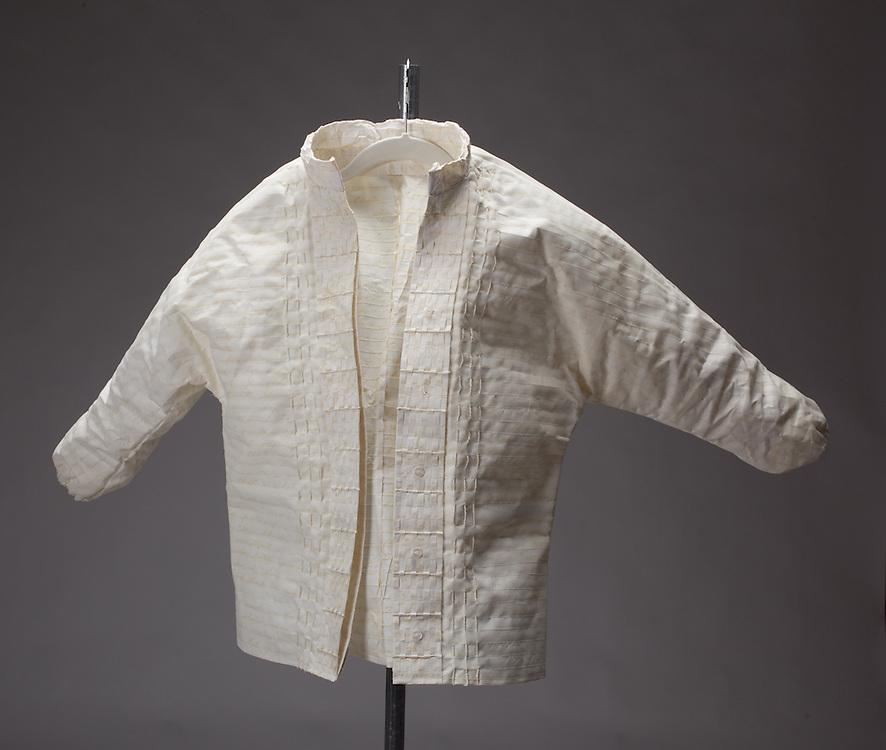 Handmade paper shirt by Julie Vandervellen