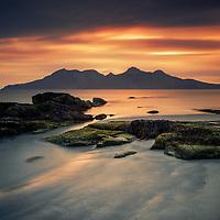 Rum from Laig Bay, Isle of Eigg, Scotland.