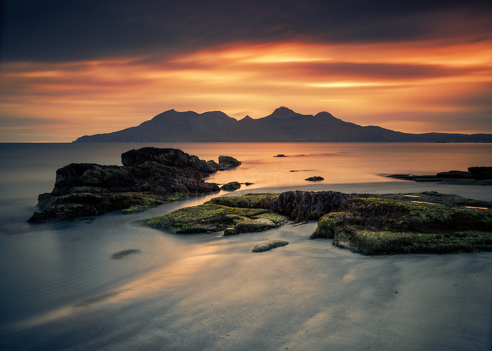 Rum from Laig Bay, Isle of Eigg, Scotland.